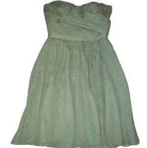 J Crew Strapless Chiffon Dress Size 0